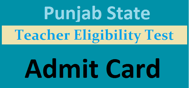 PS TET Admit card
