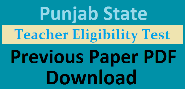 PSTET Previous Question Papers