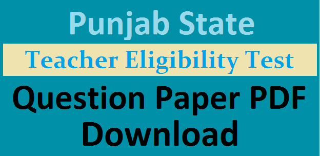 PSTET Question Paper