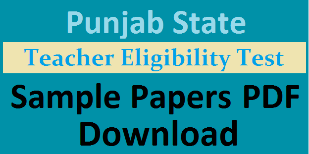 PSTET Sample Papers
